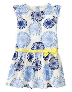 Dandelion Dress at Gymboree perfect for an Alpha Xi Delta Rose Petal legacy! Double Blue and Gold. 6 Months to 5T in girls.
