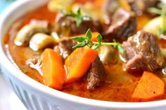 Make this low-fat Beef Stew by preparing in the morning and enjoying at the end of a long day. You'll love that this crock pot stew recipe.