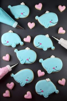 Whale you be my Valentine? cookies from Bakerella by Angie Dudley