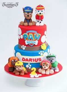 Awesome Picture of Paw Patrol Birthday Cake . Paw Patrol Birthday Cake Happy Birthday To Darius A Pocket Full Of Sweetness Paw Patrol Birthday Cake, 2 Birthday Cake, Happy 2nd Birthday, Birthday Ideas, Bolo Do Paw Patrol, Paw Patrol Torte, Paw Patrol Chase Cake, Paw Patrol Pinata, Bolo Fack