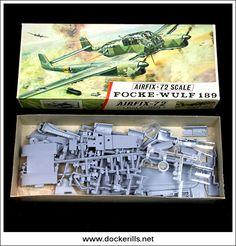 Airfix Focke-Wulfe 189 Red Stripe Box Kit Collectible   hobbyDB