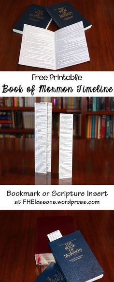 Free Printable Book of Mormon Timeline  l  Bookmark or Scripture Insert