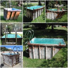 Recycled mini dumpster pool, could possibly do with a shipping container