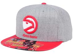 Mitchell   Ness Atlanta Hawks Dominique Wilkins NBA Caricature Snapback  Hat 31b318ee893