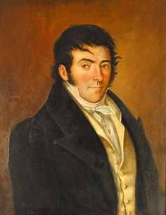 Jardinet - American Folk Art Painter - Portrait of a Yankee Sea Captain, 1835