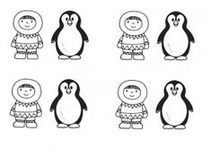 Plakboek: eskimo pinguin, kleuteridee.nl, free printable .