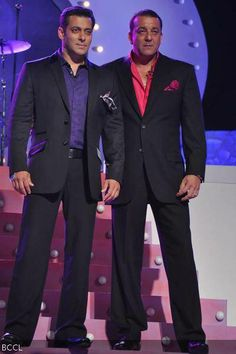 Salman Khan and Sanjay Dutt at the launch of TV show 'Bigg Boss' Season Bigg Boss Season 5, Big Big, Salman Khan, Films, Movies, Feature Film, Film Movie, Actors & Actresses, Tv Shows