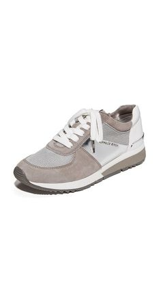 ¡Cómpralo ya!. Michael Michael Kors Allie Trainers - Silver/Pale Grey. Retro inspired MICHAEL Michael Kors sneakers in a metallic weave. Mirrored accents and a padded collar. Lace up closure. Foam sidewall. Rubber sole. Fabric: Mesh. Imported, China. This item cannot be gift boxed. Measurements Heel: 1.25in / 30mm. Available sizes: 5,5.5,6,6.5,7,7.5 , deportivas, sport, deporte, deportivo, fitness, deportivos, deportiva, deporte, trainers, sporty, plimsoll, sportschuhe, tenis…