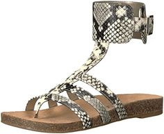 1bd653aec362 Circus by Sam Edelman Women s Katie Sandal  Molded footbed gladiator sandal  with buckle closure