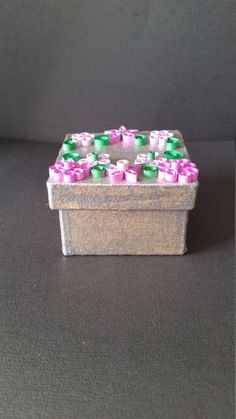 Box with quilled flowers by RaesQuilling on Etsy