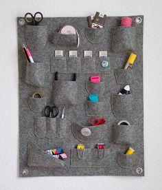 Tutorial de organizador de parede. Ou como organizar um escritório pequeno sem…