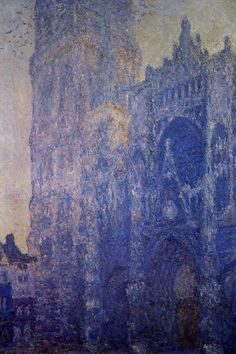 Rouen Cathedral the Portal and the tour dAlbane Morning Effect 1893 | Claude Monet | Oil Painting #impressionism