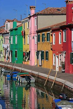 The multicoloured houses of Burano