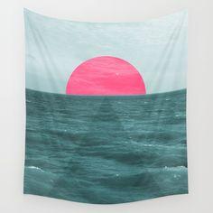 magenta, sea, sun, sunset...