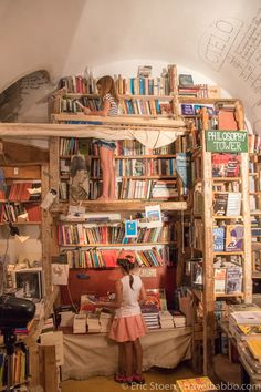At one of the coolest bookstores ever - Atlantis Books in Oia, Santorini