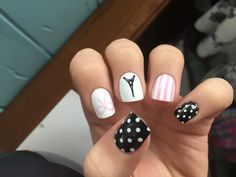 Paris themed nails
