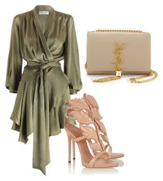 """Untitled #24"" by laurenmq ❤ liked on Polyvore featuring Zimmermann, Giuseppe Zanotti, Yves Saint Laurent and nude"