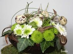 Greenery, Flower Arrangements, Centerpieces, Easter, Spring, Creative, Flowers, Plants, Handmade
