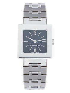 Bulgari Square Stainless Steel Quartz Watch, 22mm