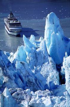 A cruise ship sails into Alaska' Photo: Harvey Lloyd, Getty Images Glacier Bay Alaska, Juneau Alaska, Alaska Travel, Alaska Trip, Glacier Bay National Park, National Parks, Cruise Vacation, Dream Vacations, Places To Travel