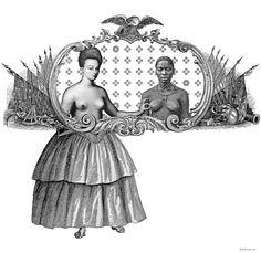 giclee print giclee 1/3 art weird afro lesbian Art & by BOBOnyc