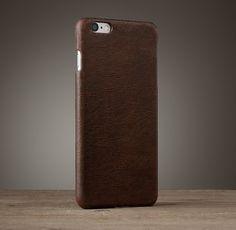 Italian Leather Hard Shell Case For Iphone® 5/5s/6/6 Plus - Cocoa-SR