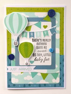 """Baby Feet"" Card by Amanda Baldwin for Kaisercraft using 'Little One' collection  - Baby Cards."