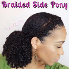 Braided Side Pony