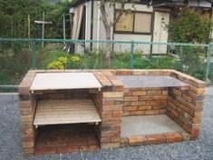 バーベキューコンロをお庭に!レンガのBBQテーブル施工例|ガーデン工房フォーシーズン(福知山)