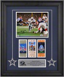 Emmitt Smith Dallas Cowboys Framed Autographed 8x10 Photograph with Super Bowl Tickets- Limited Edition of 100 $285.99 http://www.fansedge.com/Emmitt-Smith-Dallas-Cowboys-Framed-Autographed-8x10-Photograph-with-Super-Bowl-Tickets--Limited-Edition-of-100-_-26467582_PD.html?social=pinterest_pfid49-00196
