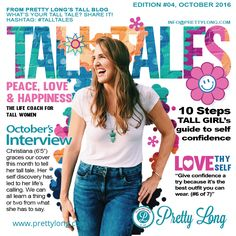 We had the honor to meet lovely Christiana, who tells us how she learned to truly embrace herself and how she now guides other tall girls to to the same. Tall Girls, Tall People, Tall Tales, Tall Women, Inspire Others, Self Love, Interview, Meet, Passion