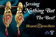 Great Collection Of #22k Gold #Earrings! Bharat #Jewellers Offer #Gold Earrings and #jewellery at reasonable price