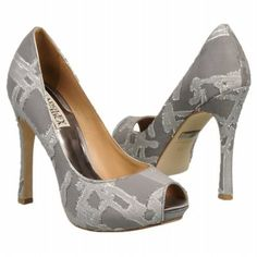 Badgley Mischka Roxie Shoes (Grey/Silver) - Women's Shoes - 6.5 M