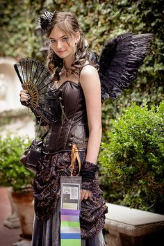Look what I found! Three guesses who this is and the first two don't count. >> you're so gorgeous!!!!!!!! Steampunk Wings, Steampunk Fairy, Cosplay Steampunk, Steampunk Corset, Steampunk Wedding, Style Steampunk, Steampunk Couture, Victorian Steampunk, Neo Victorian