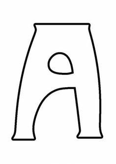 буква А фигурная, раскрасить алфавит, азбука с картинками