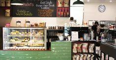 Esprosini, Kelvin Grove, Brisbane. Loving the green tile in this homey cafe.