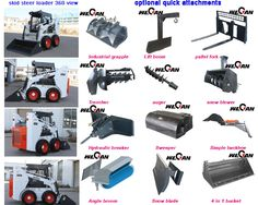 skid steer loader attachments - Google Search