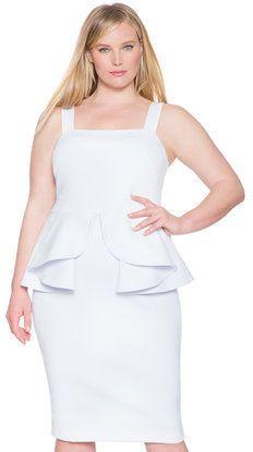 Plus Size Origami Peplum Dress