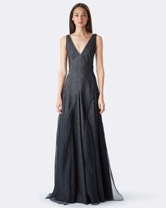 A fresh spin on the the fabric and the gown: Women's lianne Denim Evening Gown - Collection Apparel Evening Dresses - RalphLauren.com