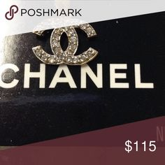Chanel 10k gold real gold pendant Chanel gold Crystal pendant 10k gold Chanel Jewelry Necklaces