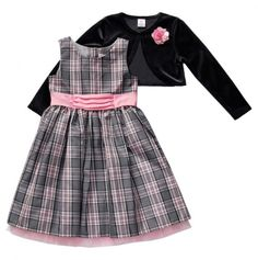 Plaid Dress and Bolero  I bought something similar for my little Victoria just yesterday for Christmas.