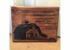 Paul Harvey So God Made a Farmer Pallet sign  by ChestnutandLime