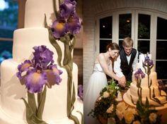 Iris-Decorated-Cake....omgosh, i love this idea!