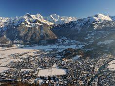 Snow covered Interlaken