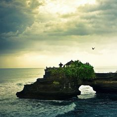 BALI- The temple shown is Tanah Lot temple, obviously this is just one part of the whole thing. This landscape was shot in Indonesia Bali.