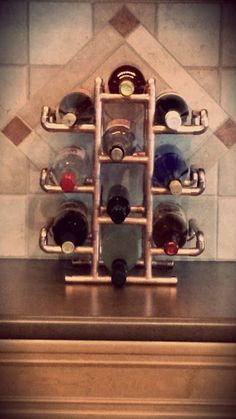 10 bottle copper unique wine rack great wine gift