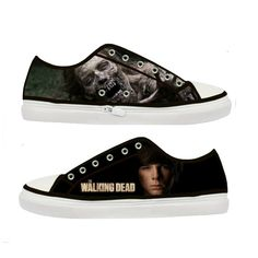 The Walking Dead Carl Grimes woman shoes  Size  US 5 6 by Tattabia, $36.99