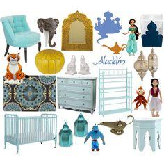 Aladdin (Princess Jasmine) nursery by molly-pop on Polyvore