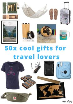 Need inspiration for a gift for someone who loves to travel? Here's a gift guide with cool gifts for travel lovers North Europe, Travel Gifts, Lonely Planet, Outdoor Travel, Cool Gifts, Gift Guide, Road Trip, Traveling, Lovers