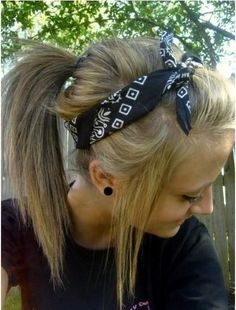 High Ponytail Hairstyles with Headbands